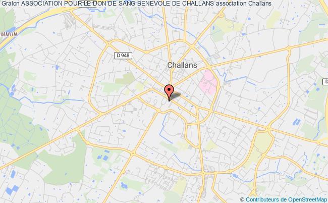 plan association Association Pour Le Don De Sang Benevole De Challans