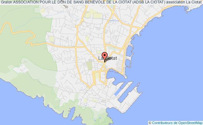 plan association Association Pour Le Don De Sang Benevole De La Ciotat (adsb La Ciotat)