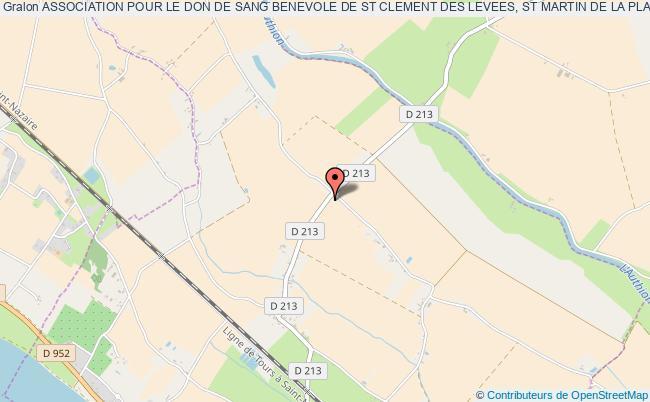 plan association Association Pour Le Don De Sang Benevole De St Clement Des Levees, St Martin De La Place, Les Rosiers Sur Loire