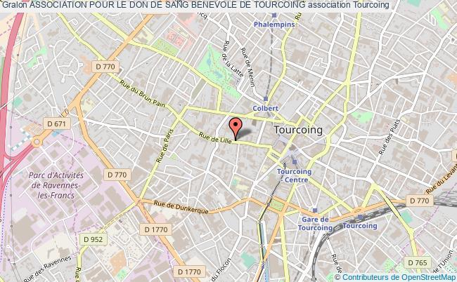 plan association Association Pour Le Don De Sang Benevole De Tourcoing Tourcoing