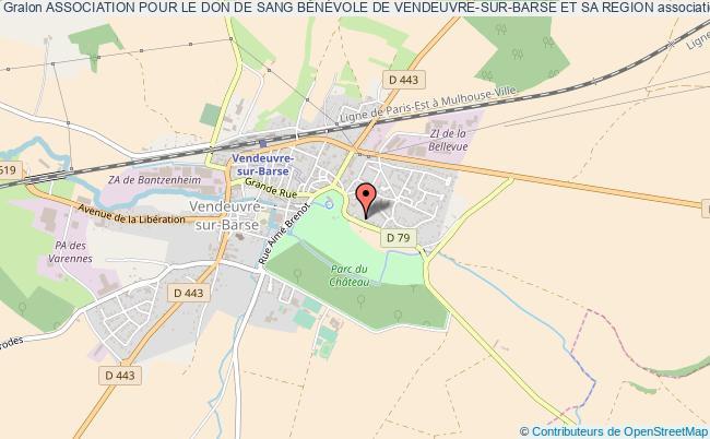plan association Association Pour Le Don De Sang BÉnÉvole De Vendeuvre-sur-barse Et Sa Region