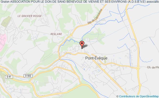 plan association Association Pour Le Don De Sang Benevole De Vienne Et Ses Environs (a.d.s.b.v.e)