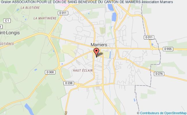 plan association Association Pour Le Don De Sang Benevole Du Canton De Mamers