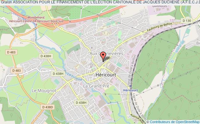 plan association Association Pour Le Financement De L'election Cantonale De Jacques Duchene (a.f.e.c.j.d.)