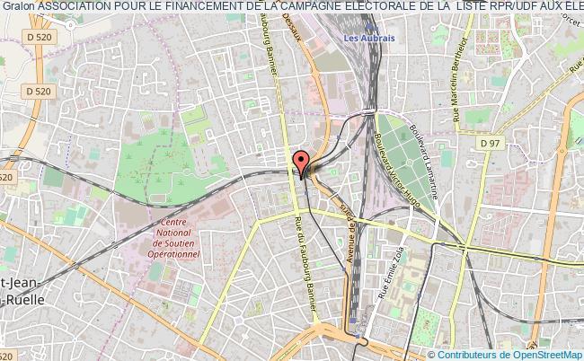 plan association Association Pour Le Financement De La Campagne Electorale De La  Liste Rpr/udf Aux Elections Du Conseil Regional De La Region  Centre Du Departement Du Loiret