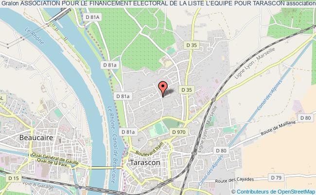 plan association Association Pour Le Financement Electoral De La Liste L'equipe Pour Tarascon