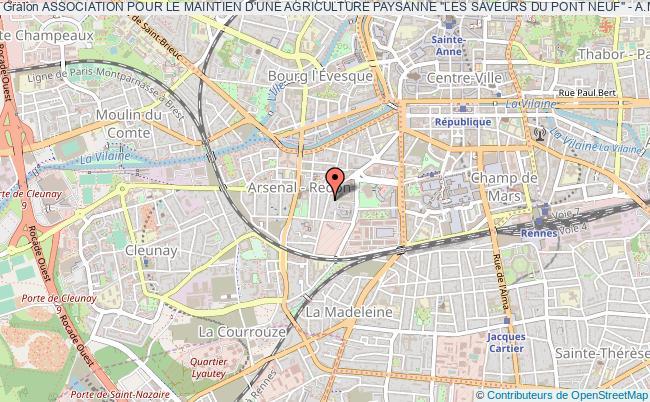"""plan association Association Pour Le Maintien D'une Agriculture Paysanne """"les Saveurs Du Pont Neuf"""" - A.m.a.p."""