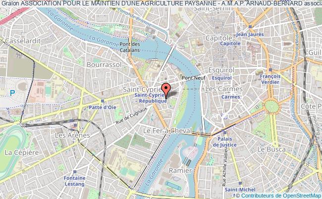 plan association Association Pour Le Maintien D'une Agriculture Paysanne - A.m.a.p. Arnaud-bernard