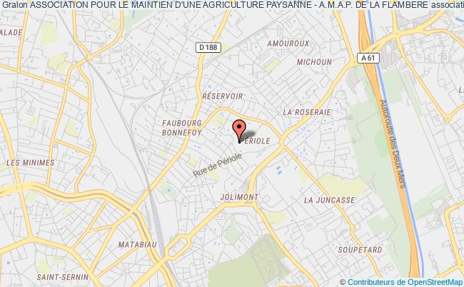 plan association Association Pour Le Maintien D'une Agriculture Paysanne - A.m.a.p. De La Flambere