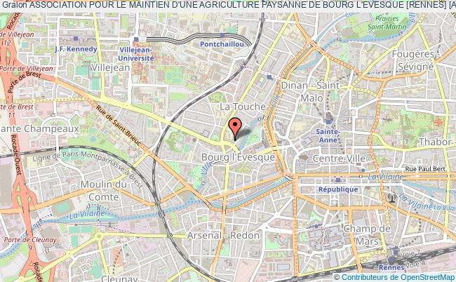 plan association Association Pour Le Maintien D'une Agriculture Paysanne De Bourg L'evesque [rennes] [a.m.a.p. I-amap-y]
