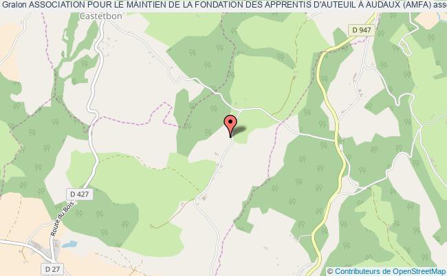 plan association Association Pour Le Maintien De La Fondation Des Apprentis D'auteuil À Audaux (amfa)