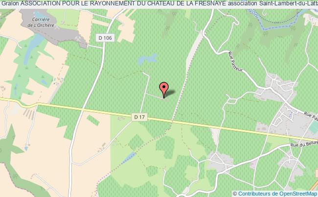 plan association Association Pour Le Rayonnement Du Chateau De La Fresnaye Val-du-Layon