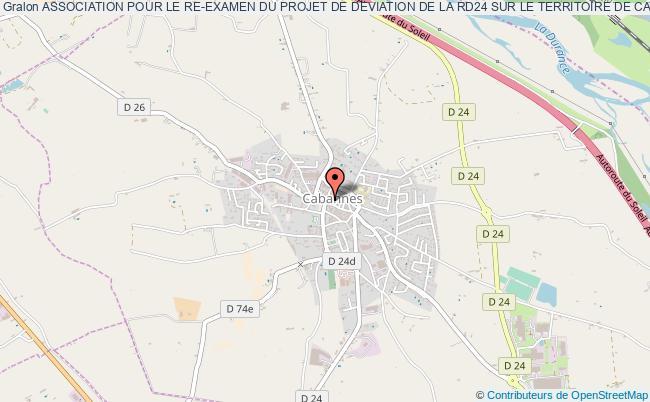 plan association Association Pour Le Re-examen Du Projet De Deviation De La Rd24 Sur Le Territoire De Cabannes - Aredev