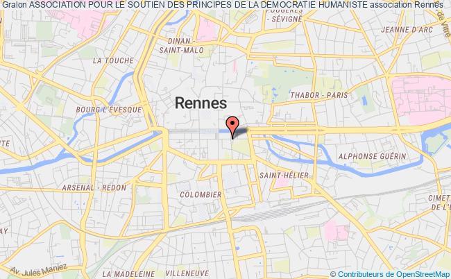 plan association Association Pour Le Soutien Des Principes De La Democratie Humaine Rennes