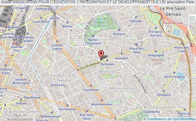plan association Association Pour L?education, L?integration Et Le Developpement (a.e.i.d)