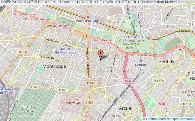 plan association Association Pour Les Essais Generiques De L'industrie Du Beton Montrouge
