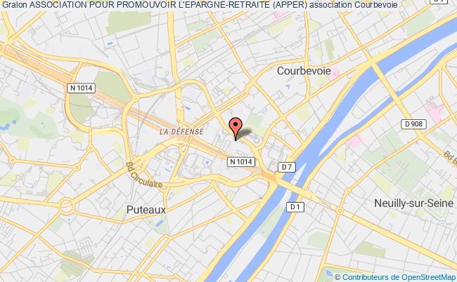 plan association Association Pour Promouvoir L'epargne-retraite (apper) Courbevoie
