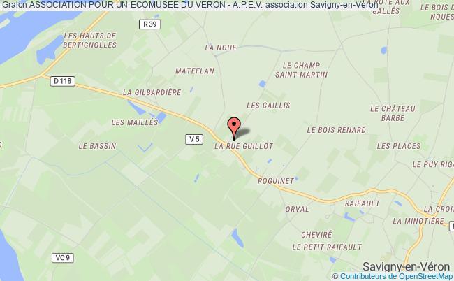 plan association Association Pour Un Ecomusee Du Veron - A.p.e.v. Savigny-en-Véron