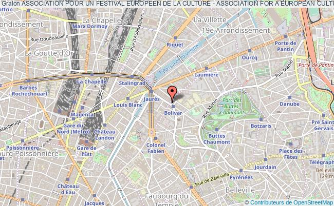 plan association Association Pour Un Festival Europeen De La Culture - Association For A European Culture Festival