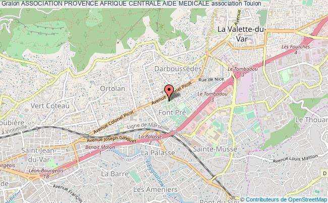plan association Association Provence Afrique Centrale Aide Medicale