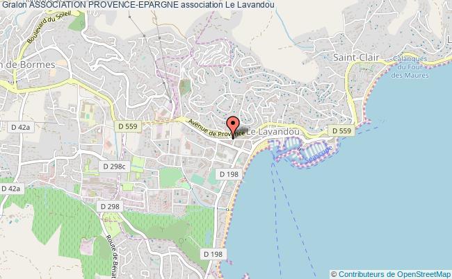 plan association Association Provence-epargne Le    Lavandou