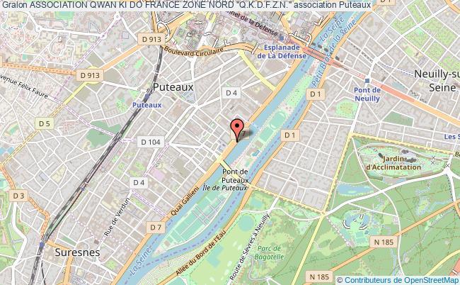 """plan association Association Qwan Ki Do France Zone Nord """"q.k.d.f.z.n."""""""