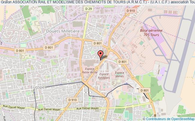 plan association Association Rail Et Modelisme Des Cheminots De Tours (a.r.m.c.t.) - (u.a.i..c.f.) Tours