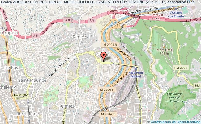 plan association Association Recherche Methodologie Evaluation Psychiatrie (a.r.m.e.p.) Nice cedex 1