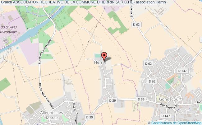 plan association Association Recreative De La Commune D'herrin (a.r.c.he) Herrin