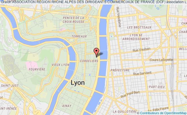 plan association Association Region Rhone Alpes Des Dirigeants Commerciaux De France (dcf)
