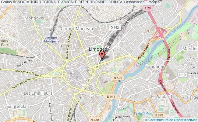 plan association Association Regionale Amicale Du Personnel Coineau