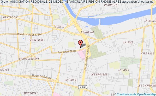 plan association Association Regionale De Medecine Vasculaire Region Rhone-alpes
