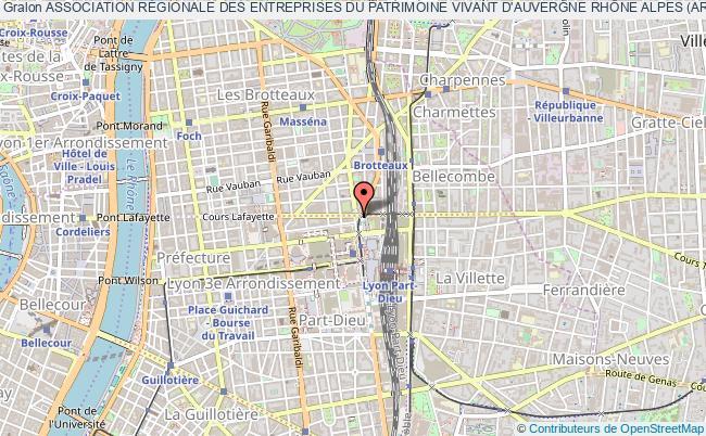 plan association Association RÉgionale Des Entreprises Du Patrimoine Vivant D'auvergne RhÔne Alpes (arepv Ara) Lyon