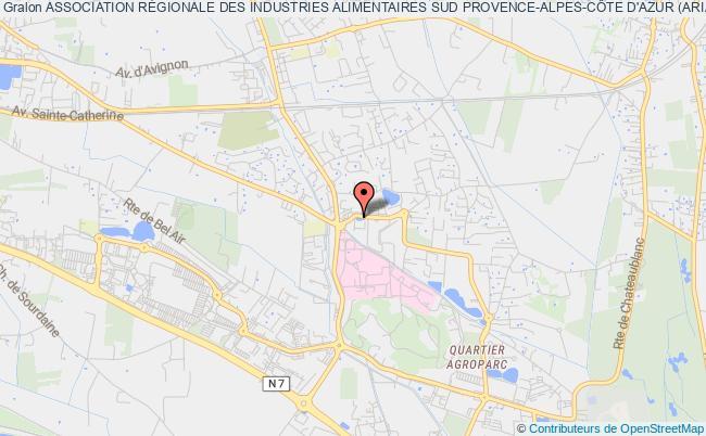 plan association Association RÉgionale Des Industries Alimentaires Sud Provence-alpes-cÔte D'azur (aria Sud)