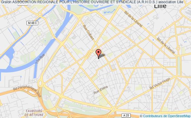 plan association Association Regionale Pour L'histoire Ouvriere Et Syndicale (a.r.h.o.s.)