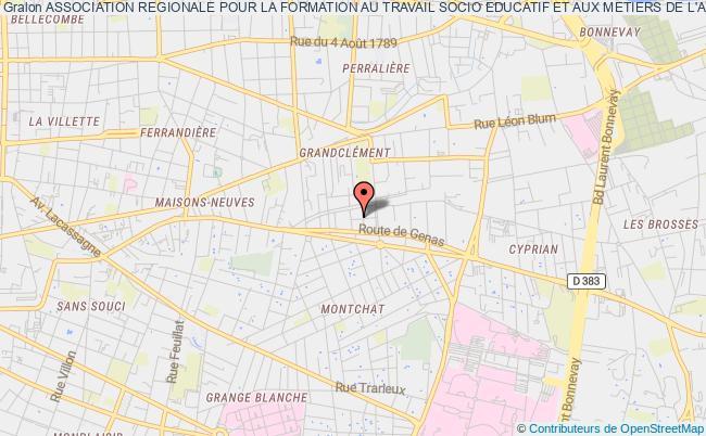 plan association Association Regionale Pour La Formation Au Travail Socio Educatif Et Aux Metiers De L'animation