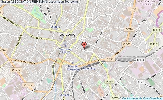 plan association Association Rehemani Tourcoing