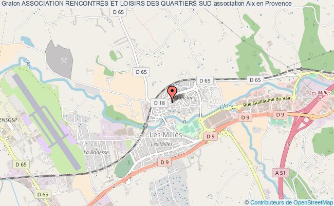 plan association Association Rencontres Et Loisirs Des Quartiers Sud Aix-en-Provence
