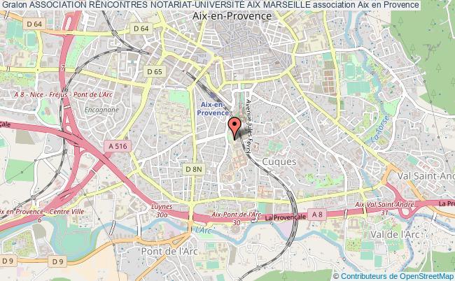 plan association Association Rencontres Notariat-universitÉ Aix Marseille