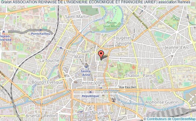 plan association Association Rennaise De L'ingenierie Economique Et Financiere (arief)
