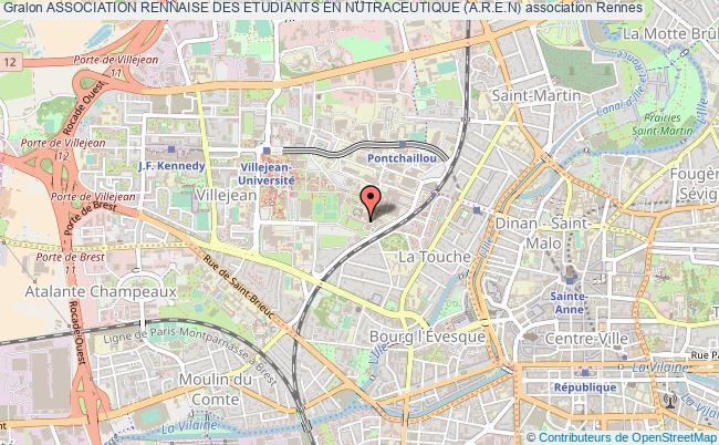 plan association Association Rennaise Des Etudiants En Nutraceutique (a.r.e.n) Rennes