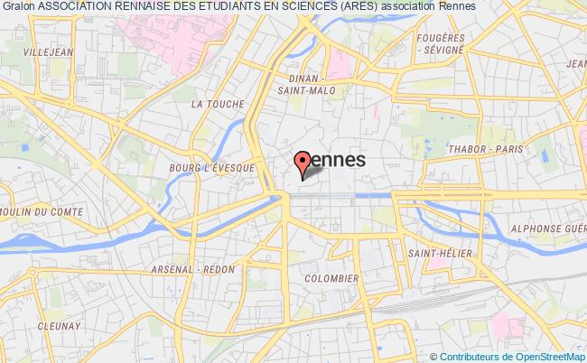 plan association Association Rennaise Des Etudiants En Sciences (ares)