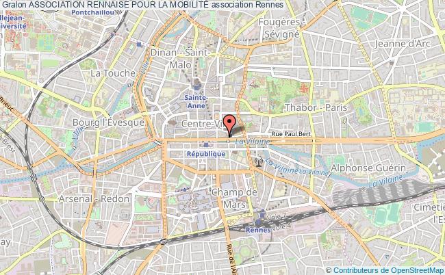 plan association Association Rennaise Pour La MobilitÉ Rennes