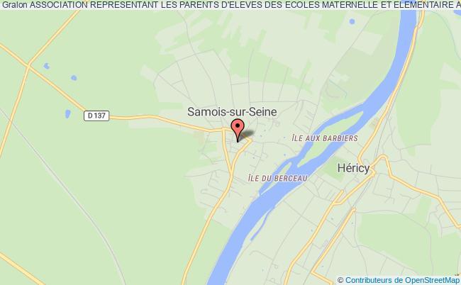 plan association Association Representant Les Parents D'eleves Des Ecoles Maternelle Et Elementaire Alfred Binet De Samois-sur-seine Samois-sur-Seine