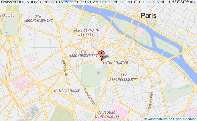 plan association Association Representative Des Assistants De Direction Et De Gestion Du Senat (aradiges) Paris