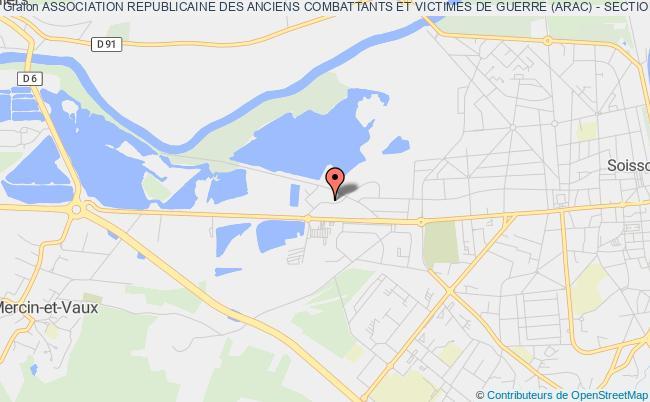 plan association Association Republicaine Des Anciens Combattants Et Victimes De Guerre (arac) - Section De Soissons Soissons