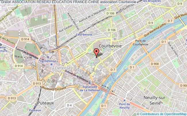 plan association Association Reseau Education France-chine Courbevoie