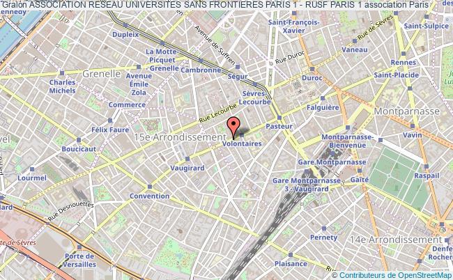 plan association Association Reseau Universites Sans Frontieres Paris 1 - Rusf Paris 1 Paris