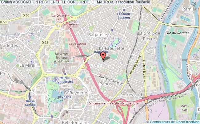 plan association Association Residence Le Concorde, Et Maurois