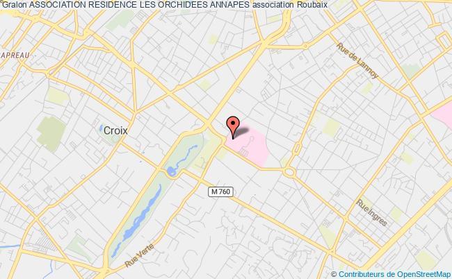 plan association Association Residence Les Orchidees Annapes Roubaix